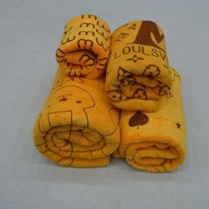 korean towel yellow