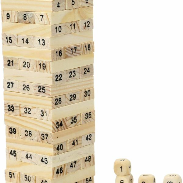 54 pcs wooden game
