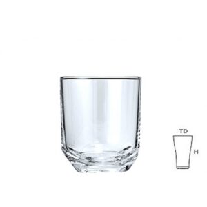 Base cut whisky glass