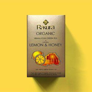 Rakura Himalayan Organic Green Tea + Natural Lemon & Honey 25 TB