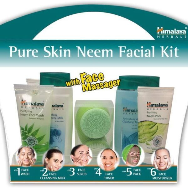 facial kit with massager