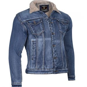 denim jacket with wool