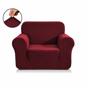 sofa cover maroon color