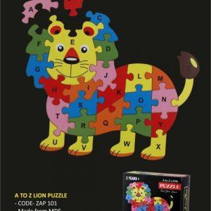lion wooden puzzle