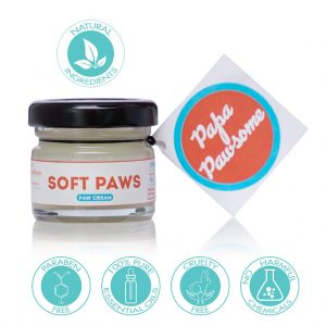 Papa Pawsome Soft Paws 100% Natural Paw Cream for dogs 25 Gms